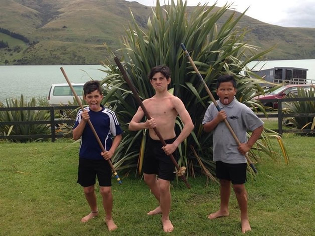 From left, Te Kaio Cranwell, Liam Dacombe and Hone Hurunui.