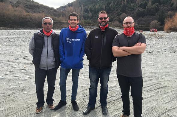 From left, Te Pūtahitanga staff in Queenstown – Te Rā Morris; Sean Bragg; Haydon Richards and Ben Reriti-Jones.