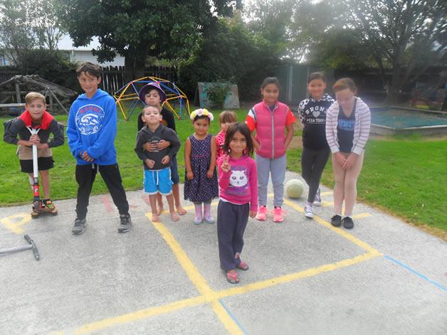 From left, Te Wai Kahua Paki, Nukuroa Rikihana, Te Haumoana Cook (back), Kimihia Cook-Porter, Haeata Cook...