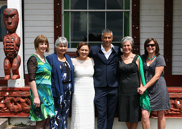 From left, Tracey Wemyss, Ann Martin, Talei Pohio, Hayden Pohio, Fern Whitau and Jodie Denton.