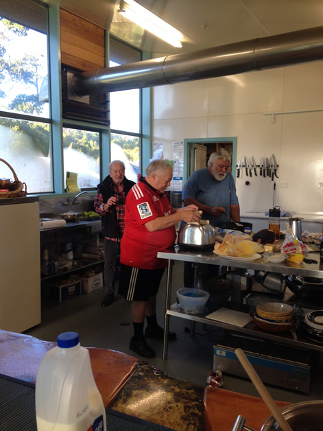 Neville Tahuaroa, Richard Wallace and Paul Wilson, Mother's Day chefs.
