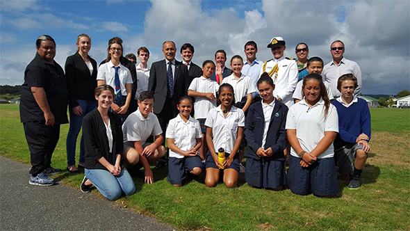 Governor-General pays a visit to Westland High School.