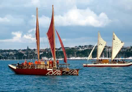 Haunui at sail.