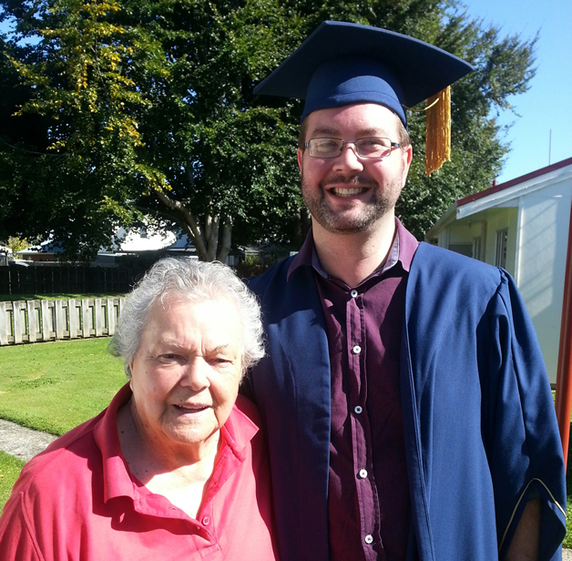 Haydon is pictured here with his proud nana June McEwan (nee Tipa).