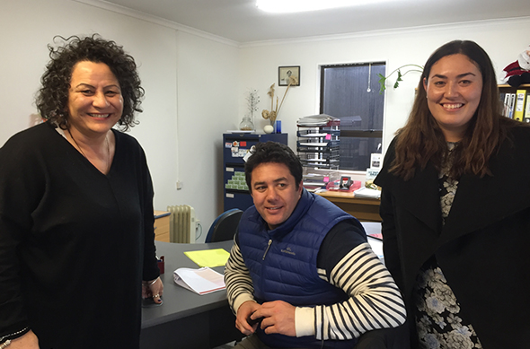 Helen Thoms, Takerei Norton, and Morgan Lee came to assist with interviewing for archiving and Ngāi Tahu Fund applications.