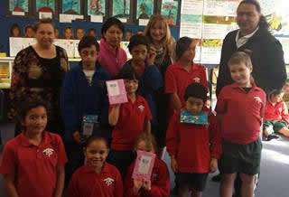 Hokitika Primary School participants at the first Makaawhio reading challenge.