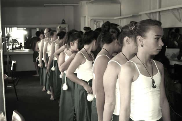 Hokitika Primary School preparing to perform.