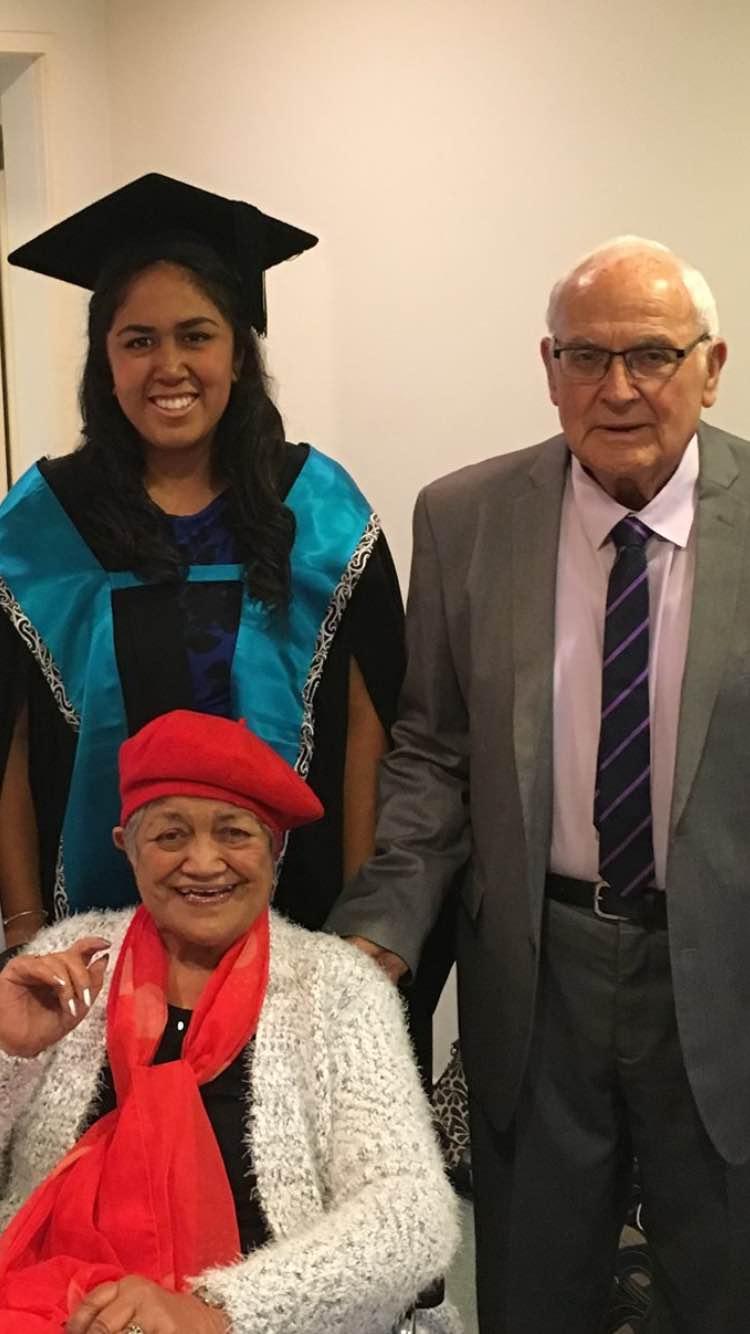 Hirapeke, Joseph Tipa and Judy Tipa (sitting).