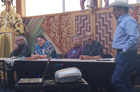 Indigenous Alaskan delegation members.