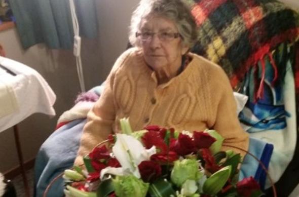 Ivy McGaughey on her 96th birthday.