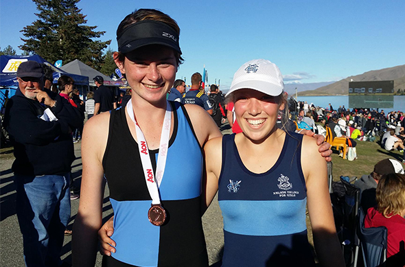 Jamie Harris (left) at the Maadi Cup Regatta in Twizel.