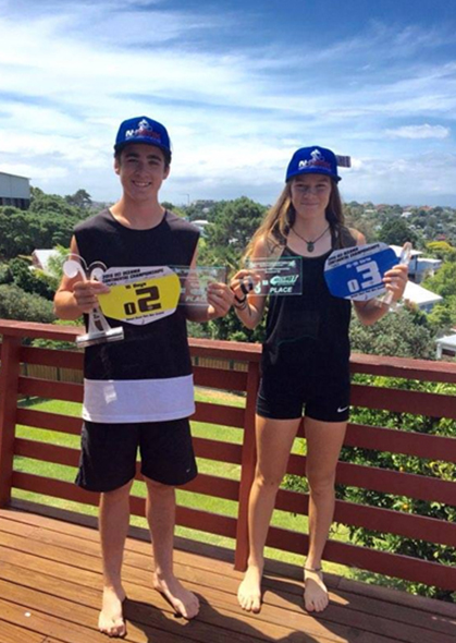 Jamie and Ashley with their latest competition prizes.