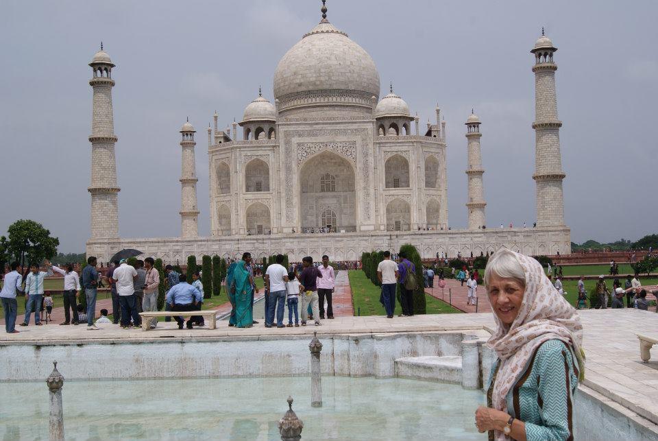 Jan at the Taj Mahal.