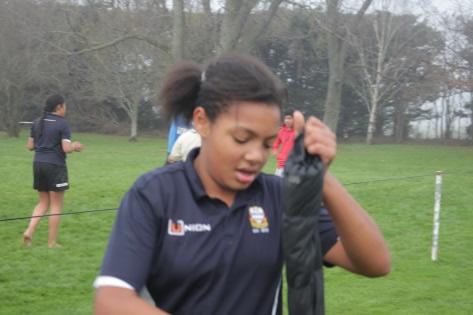 Jayda Siyakurima (Teihoka whānau) after the Southbridge under 11 ½ game, which they won 44-nil against Rolleston.