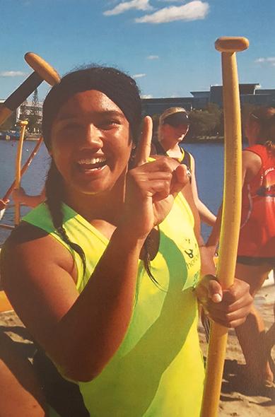 Jessica Terekia at the Worlds Championship in Australia.