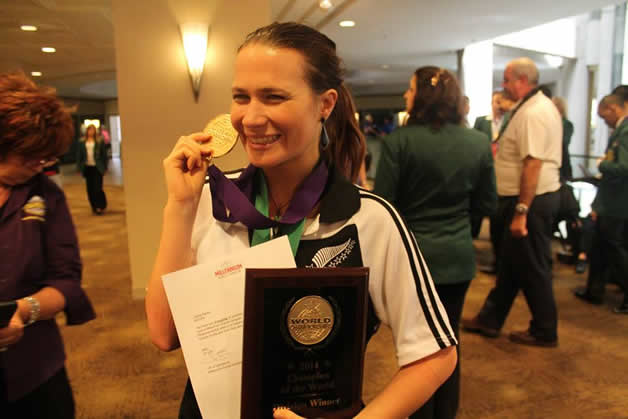 Jessie Rochford-Barber with her medals.