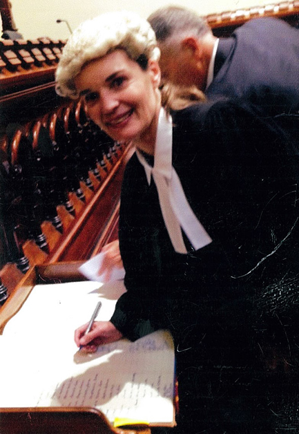 Jo-Anne being admitted to the Bar at the Auckland High Court. copy