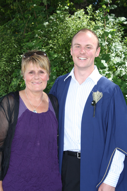 Jo Keane and her son Adam.