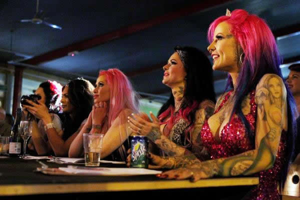 Judges of the Miss Diamond Doll competition.