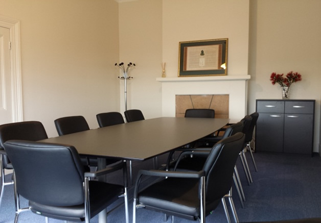 Just waiting for some artwork to complete our newly-redecorated meeting room.