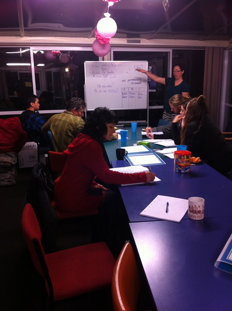 Kāti Huirapa ki Puketeraki whānau focused on learning te reo Māori.