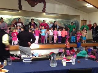 The Cottage Kindergarten performs a waiata.