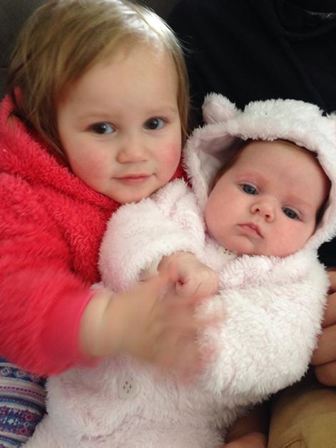 Kairangi Cook Thompson and baby Saoirse.