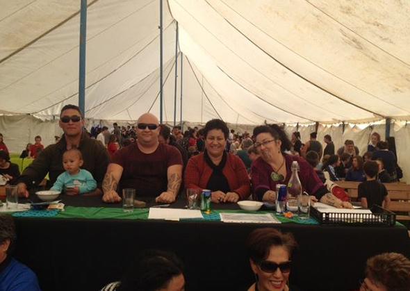 Kaiwhakawā tumeke. From left, Te Rua Mason, Tahu Paki, Lynne Harata Te Aika and Maatakiwi Wakefield.