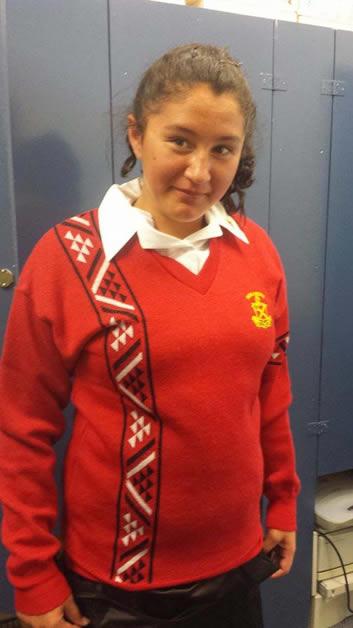 Kaylah Stirling in her Hukarere uniform.