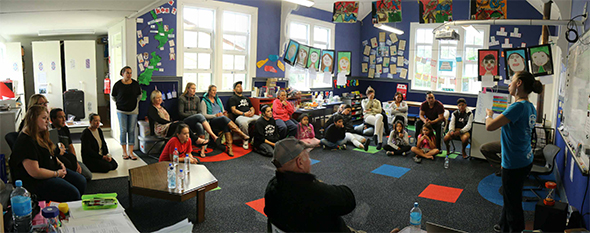 Kia Kūrapa ki Kaikōura Group listening and learning.