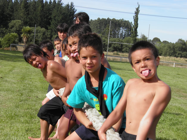Learning and playing in te reo Māori.