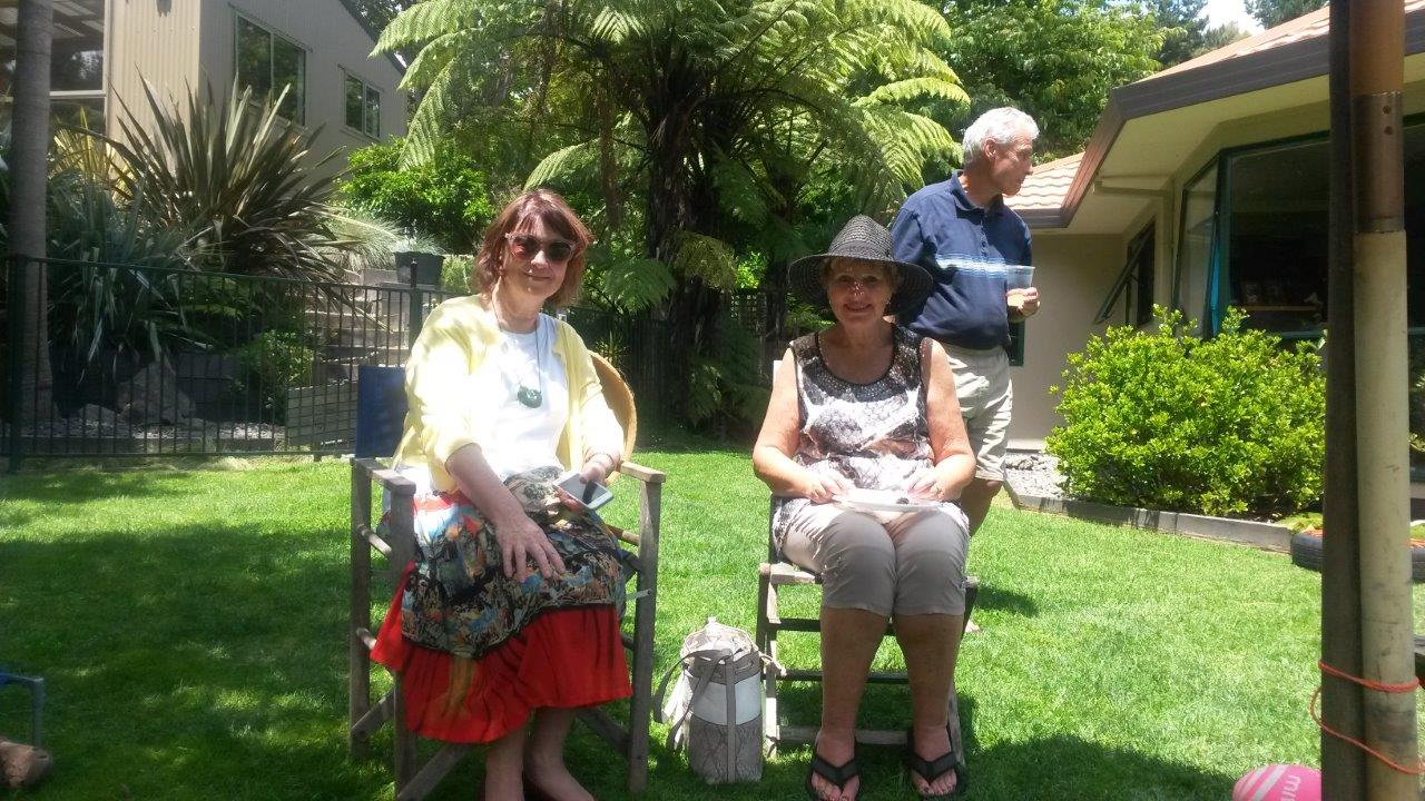 Left to right: Annis Somerville, Julie and Ross Hemara.