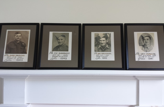Left to right, Lou Bragg, Pat Roderique, George Williamson and George Fowler.