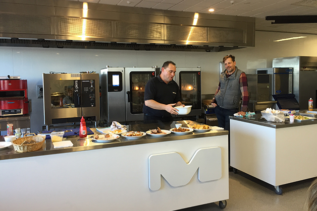 Lindsay and Mario from Moffats Kitchen Equipment.