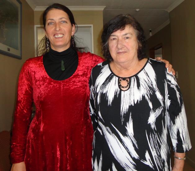 Lisa Te Raki and Pam Hey.