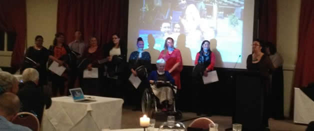 Maatakiwi delivering her speech at the Ahikaaroa graduates BMPA dinner.