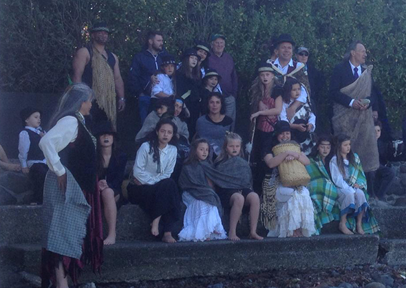 Mana whenua representing their ancestors at the pōwhiri.