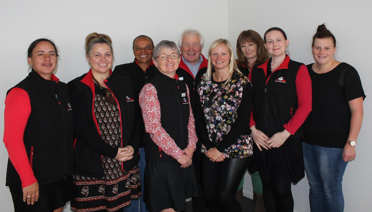 Management and staff at the opening of Arowhenua Whānau Services Kings Street Health Clinic.
