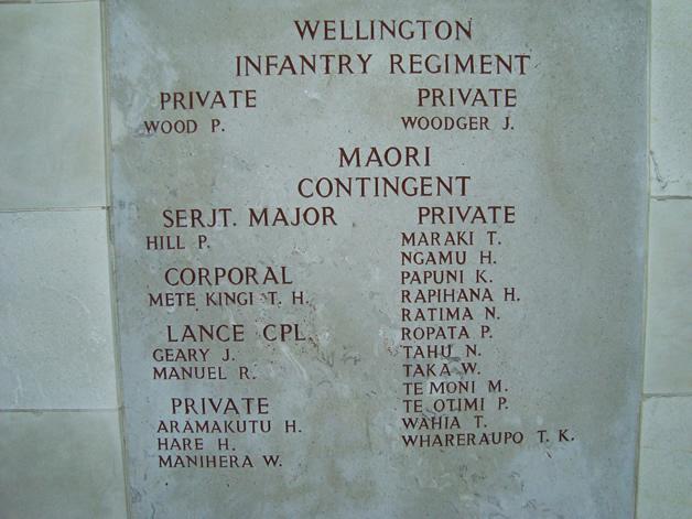Māori soldiers who lost their lives at Chunuk Bair.