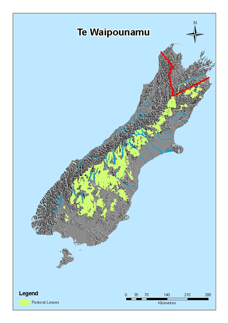 Map of pastoral leases.