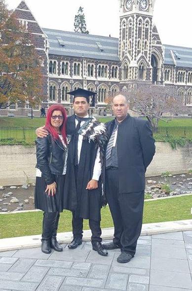 Marcia, Tiaki and Jodi at graduation.