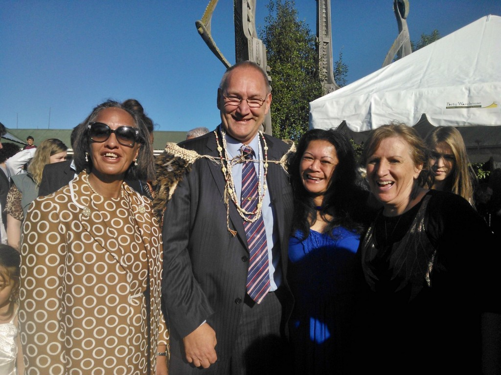 From left; Mariana Phillips, Tā Mark Solomon, Huia Guthrie and Sue Tipene.