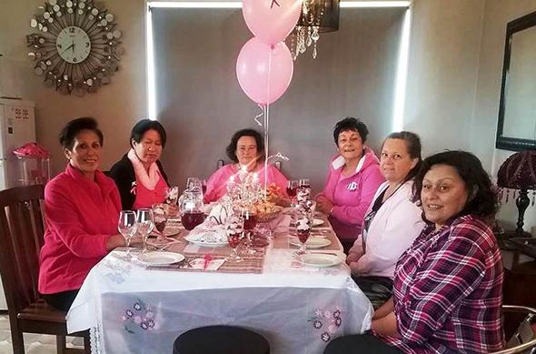 From left to right: Marie Mahuika-Forsyth, Julianne Zwies, Rowena Scott, Waikohatu Scott, Kathleen Langi and Rachael Forsyth.