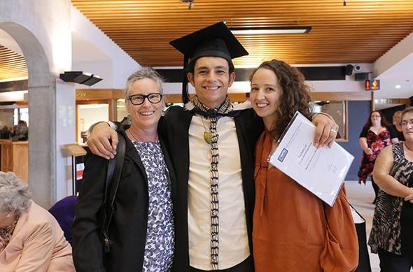 Left to right: Marijke Miller (Mum), Martini Miller and Martini's wife, Elza van Boxel.