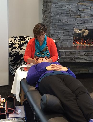Massage with Ngaio Tuari.