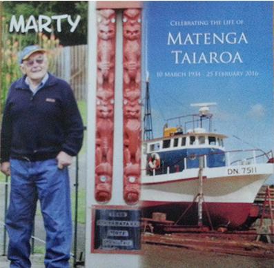 Matenga Taiaroa 10 March 1934 – 25 February 2016.