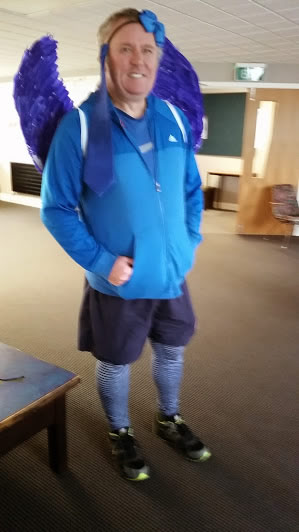 Matua Gary in his awesome outfit.