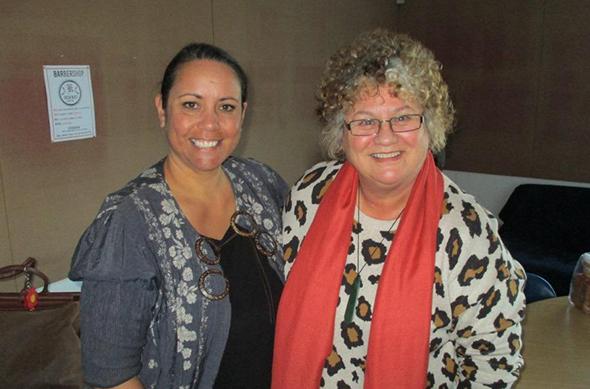 Michaela Kamo (left) and Dr Candy Cookson.