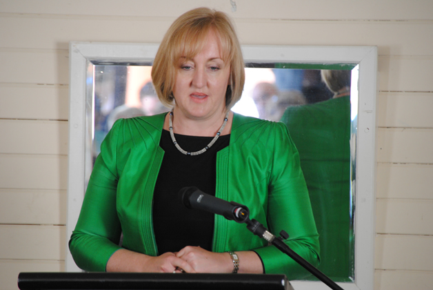 Minister for the Environment, the Honourable Amy Adams addresses the guests.