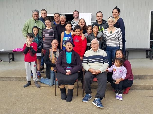 Moeraki whānau gathering together.